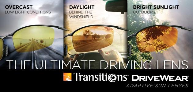 Transitions DriveWear: selbsttönende Brillengläser
