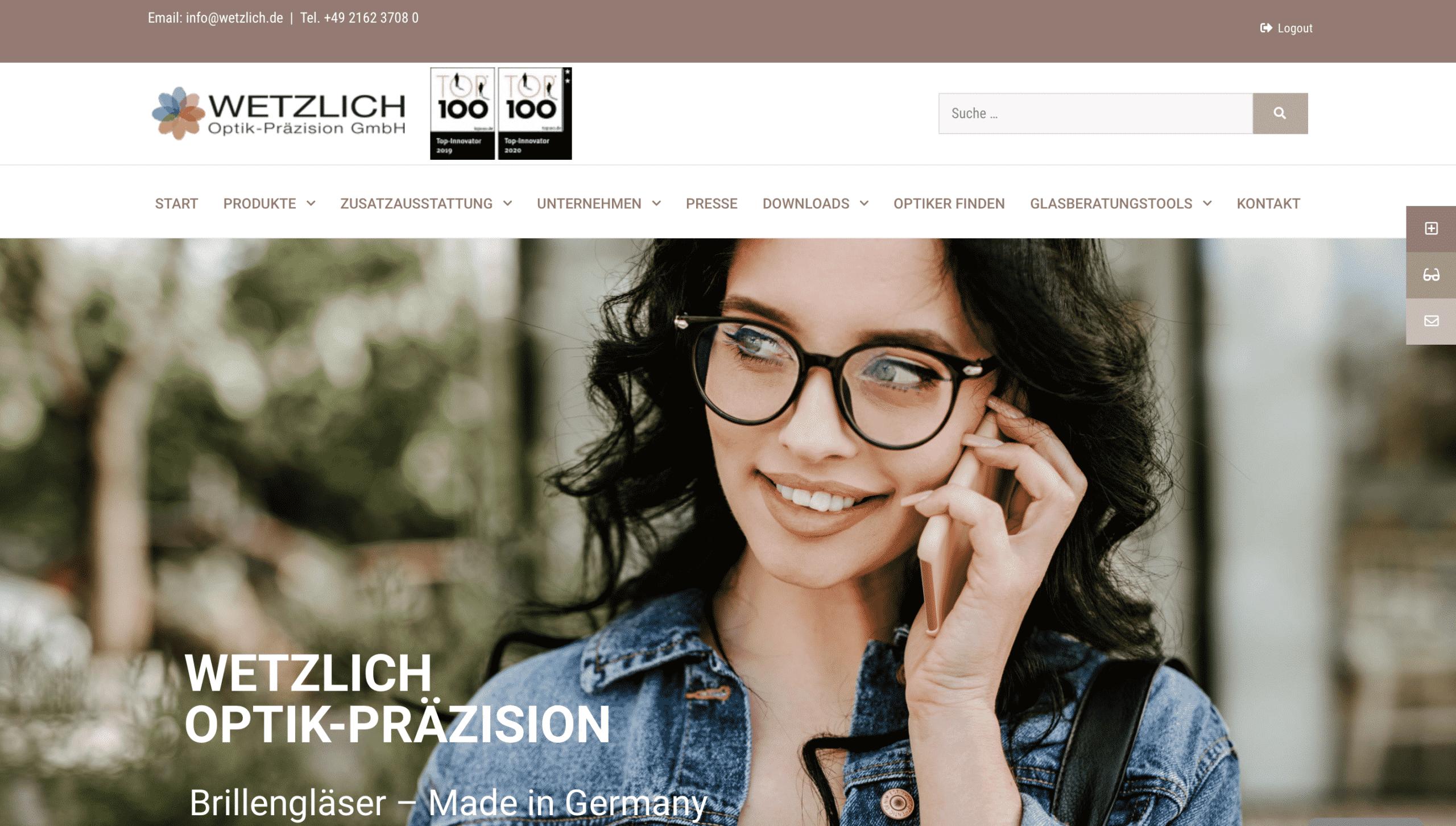 Website-Relaunch bei Wetzlich