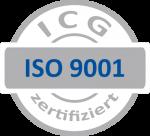 ICG ISO 9001 zertifiziert